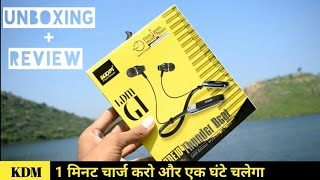 KDM G1 One10 Bluetooth Earphone Unboxing amp Review