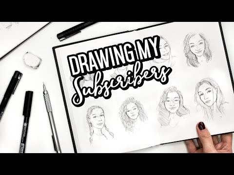 DRAWING MY SUBSCRIBERS... AGAIN! |  Sketchbook Sessions