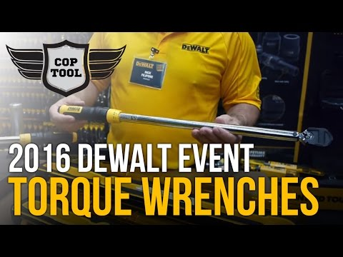 """Dewalt Click-Type Torque Wrenches 3/8"""" 20-100 ft-lbs & 1/2"""" 50-250 ft-lbs"""