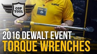 "Dewalt Click-Type Torque Wrenches 3/8"" 20-100 ft-lbs & 1/2"" 50-250 ft-lbs"