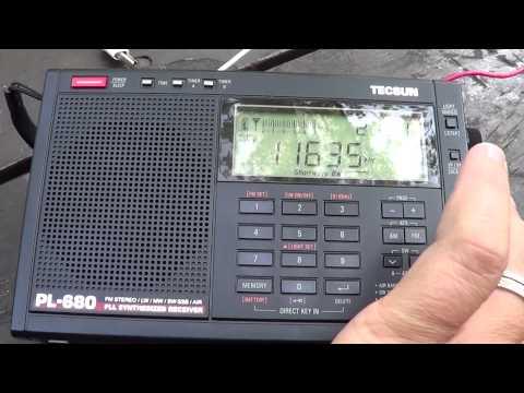 HM01 Cuban spy numbers shotwave 11635 Khz heard july 3rd 2015 Tecsun PL 680