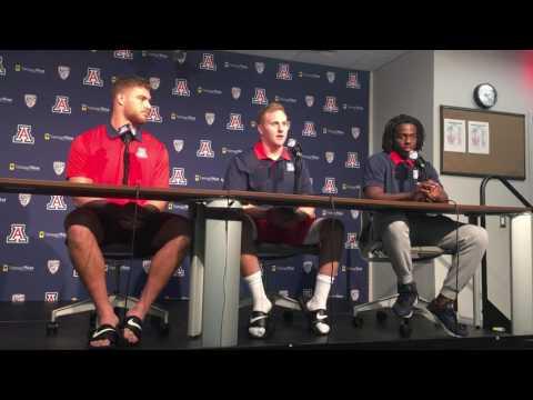 Trevor Wood, Parker Zellers, and Demetrius Flannigan-Fowles press conference 11-6-16