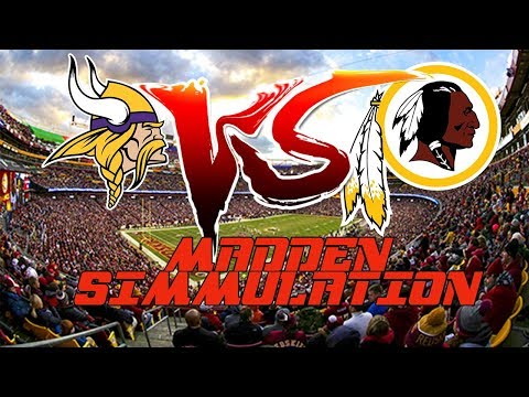 Minnesota Vikings VS Washington Redskins Madden 18 simulation