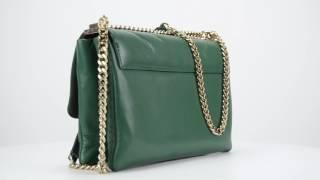 Bandolera Carolina Herrera, modelo Gala Bag, color verde.