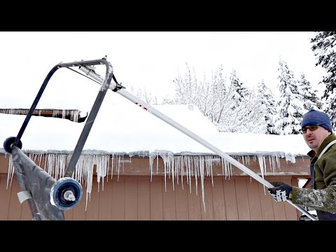AMAZING HACK REMOVES SNOW FROM ROOF!!