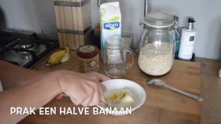 FOOD INSPIRATION VIDEO 5: Overnight oatmeal met banaan en pindakaas