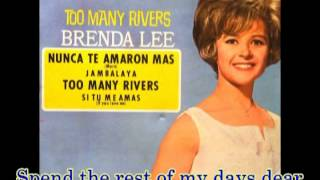 BRENDA LEE - THE VALLEY OF TEARS (with lyrics)