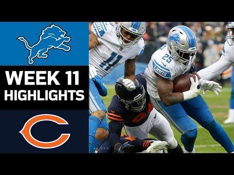 Lions vs. Bears   NFL Week 11 Game Highlights
