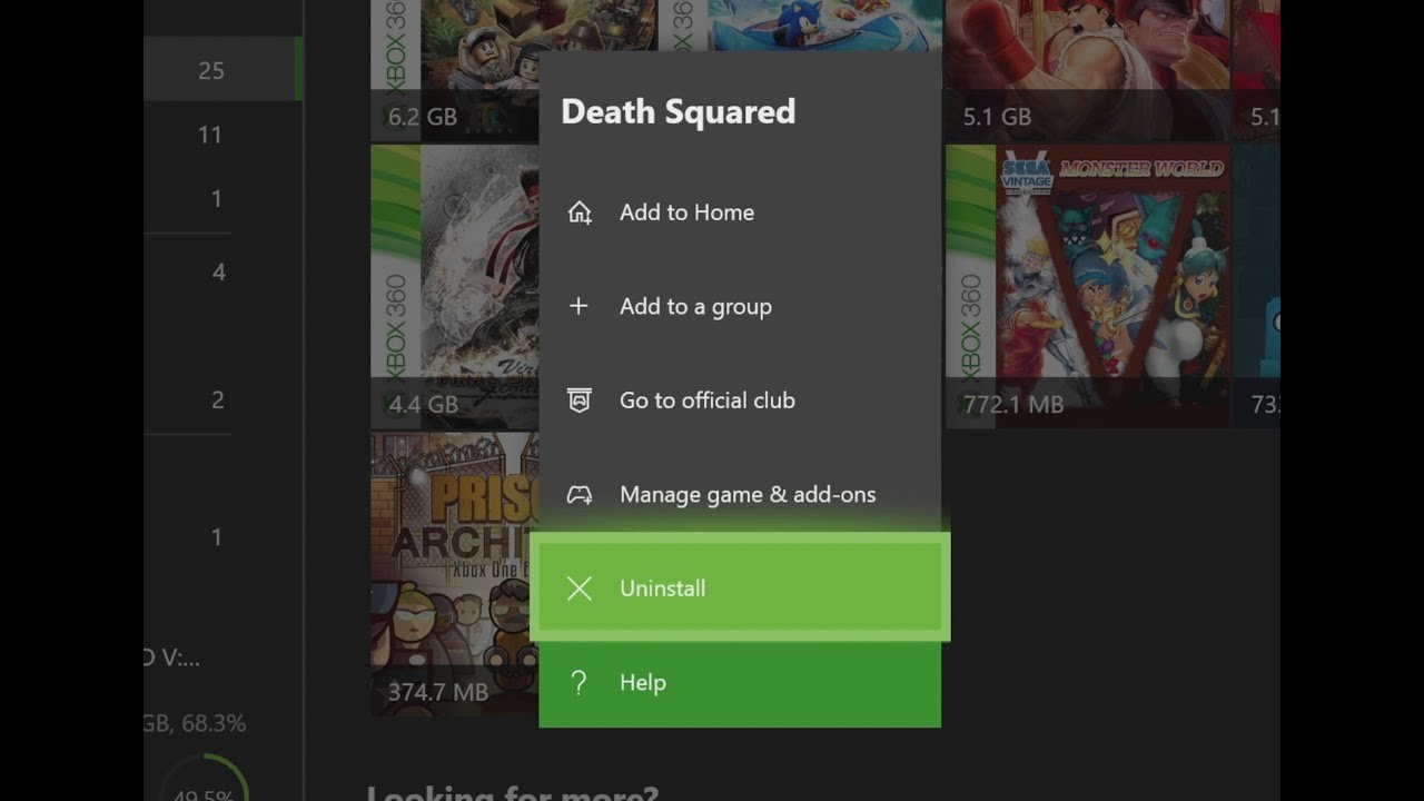 How To Uninstall Games From Xbox One S Delete Games From
