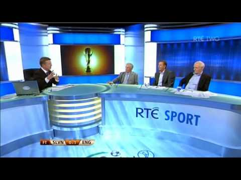 RTE World Cup 2010 - England vs Slovenia post match analysis