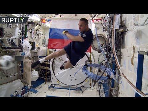 Zero Gravity Football: Russian Cosmonauts Show Off Skills Ahead Of World Cup