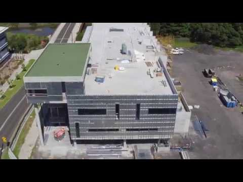 Drone view of the iAccelerate Centre, Innovation Campus