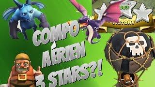 [HDV8] COMPO AERIENNE 3 STARS! CLASH OF CLANS FR