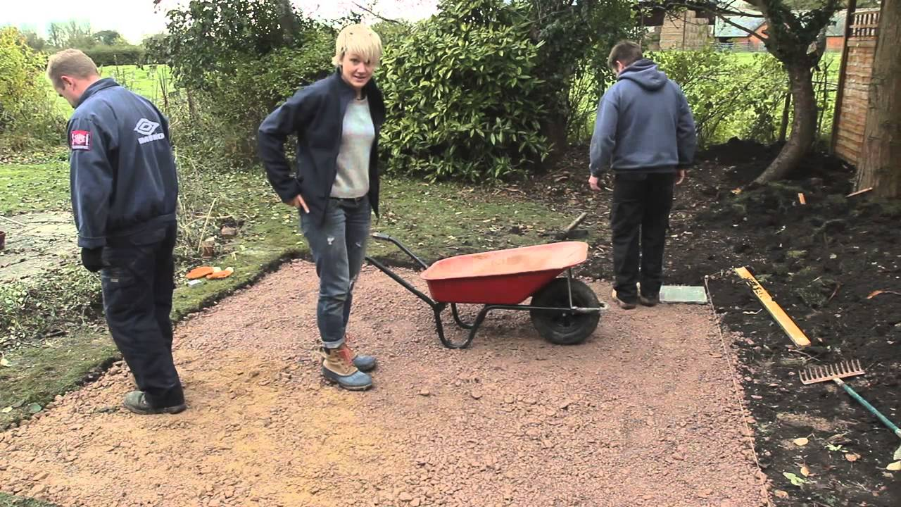 diy how to lay paving slabs patio with philippa tuttiett
