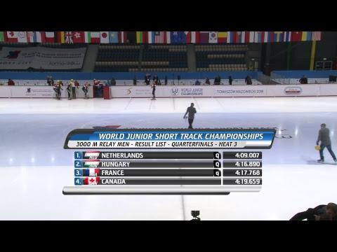 World Junior Short Track Speed Skating Championships Day 1 heats