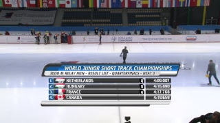 World Junior Short Track Speed Skating Championships Day 1 heats