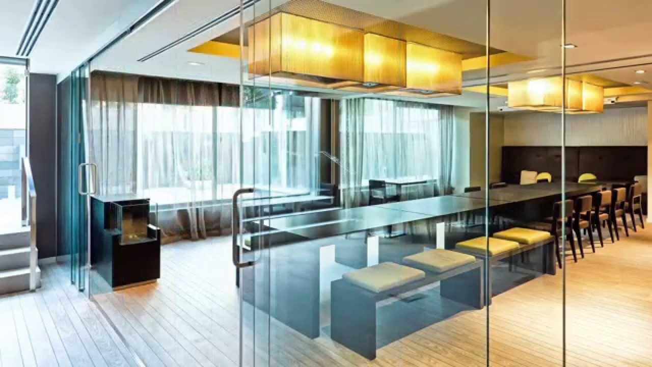 commercial frameless glass interior walls