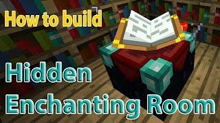 Minecraft Hidden Enchanting Room / Table    Easy Redstone   All versions