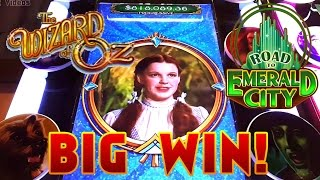 Wizard of Oz - Road to Emerald City Slot Machine - Big Win!