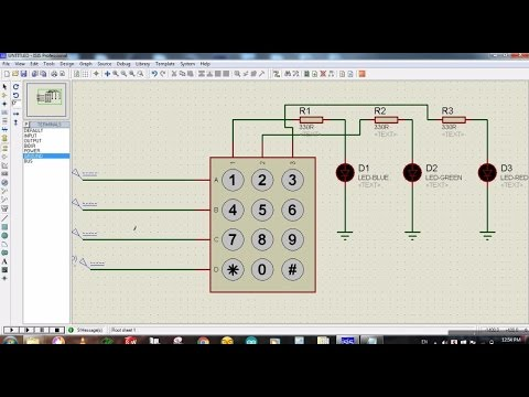 3X4 Matrix Keypad Simulation in Proteus - Connection Identification!