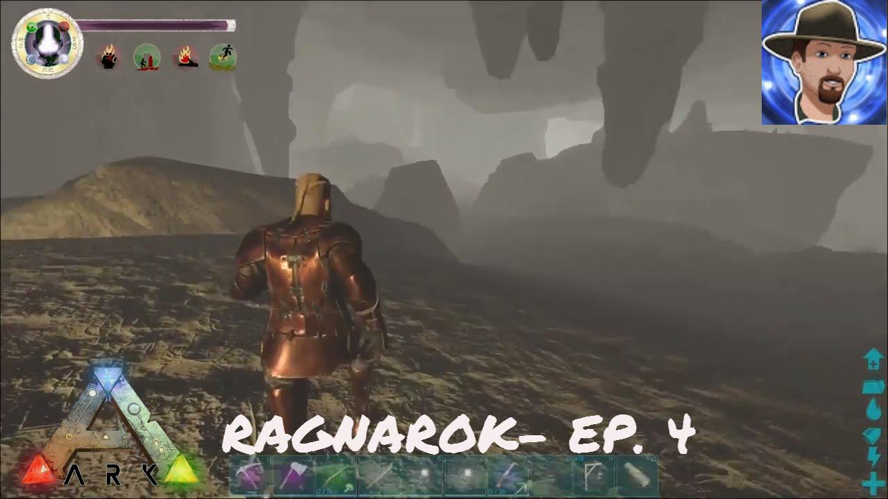 ARK RAGNAROK EP  4- SWAMP CAVE EXPLORATION- under the castle