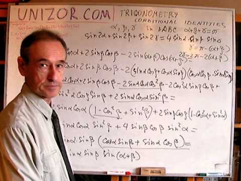 Unizor - Trigonometry - Conditional Identities