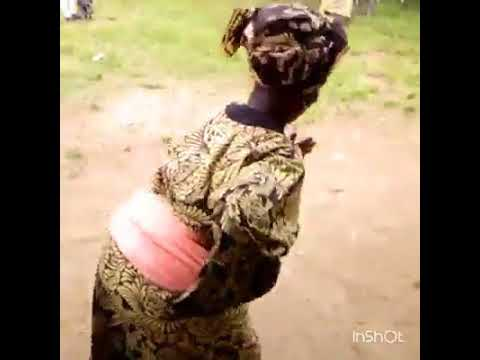 An old woman dancing to Olamide WO song. You.can see the way she dances