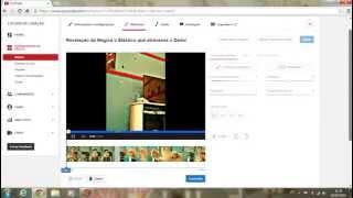Como cortar o video no Editor do youtube