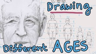 How to Draw Different Ages: baby, child, teen-adult, elder