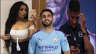 ANTHONY JOSHUA SEEN FLIRTING WITH WIFE OF RIYAD MAHREZ BEFORE REJECTING HER!!