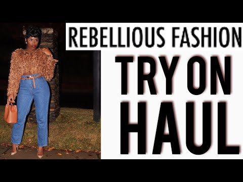 REBELLIOUS FASHION TRY ON HAUL 2018| REAL LIFE VS. WEBSITE |iDESIGN8