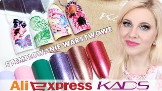 Zapętlaj Aliexpress Haul Paznokcie / Nails - stemplowanie warstwowe, lakiery i stemple KADS * Candymona | Candymona