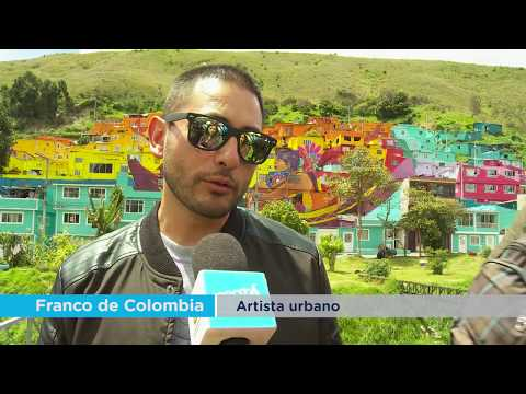 El mural más grande de Colombia está en Bogotá