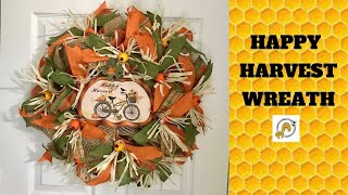 How to make a Deco Mesh Fall Wreath