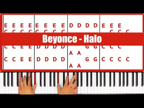 Halo Beyonce Piano Tutorial - ORIGINAL