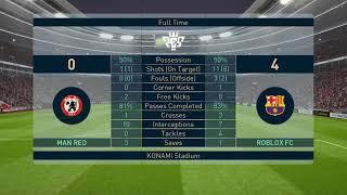 Roblox FC vs Man Rot   Pes 2019