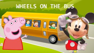 Finger Family Song - Wheels on the bus go round and round song - Children Songs for Kids