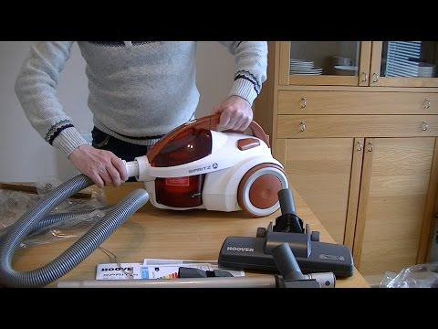 hoover-spritz-bagless-vacuum-cleaner-unboxing-&-first-look