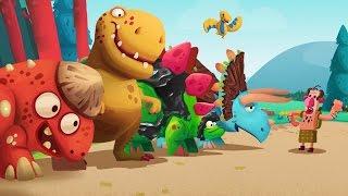 ДИНОЗАВРЫ ПРОТИВ ЛЮДЕЙ [1] Игровой мультик для детей Игровое видео по игре (Dino Bash - 1 серия)