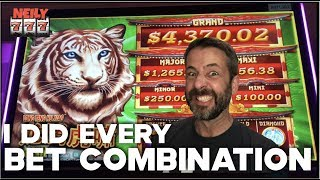 I BET EVERY WAY POSSIBLE ON MIGHTY CASH! Live slot play!