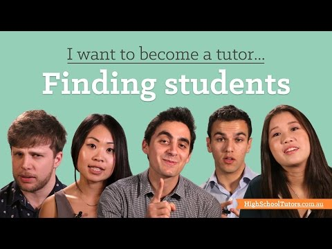 I want to become a tutor: Finding your first students