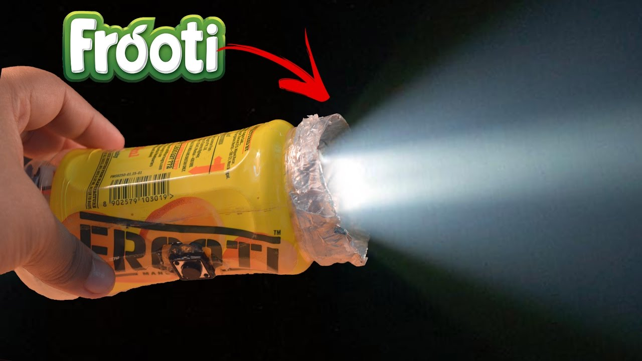 How to make a flashlight using waste plastic bottles youtube for Hand works using waste things