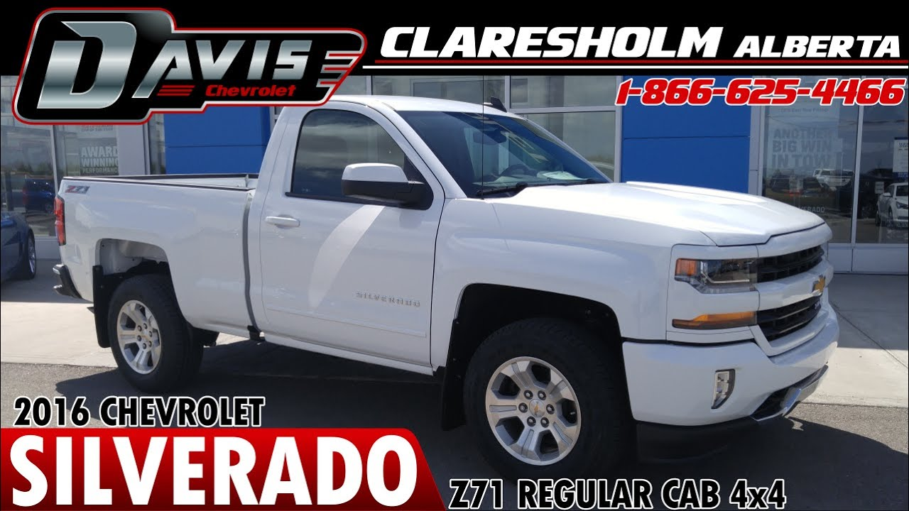 New 2016 White Chev 1500 Reg Cab 4x4 Z71 Davis Claresholm Lethbridge Calgary