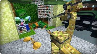 Сделали свою базу против зомби [ЧАСТЬ 1] Зомби апокалипсис в майнкрафт! - (Minecraft - Сериал)