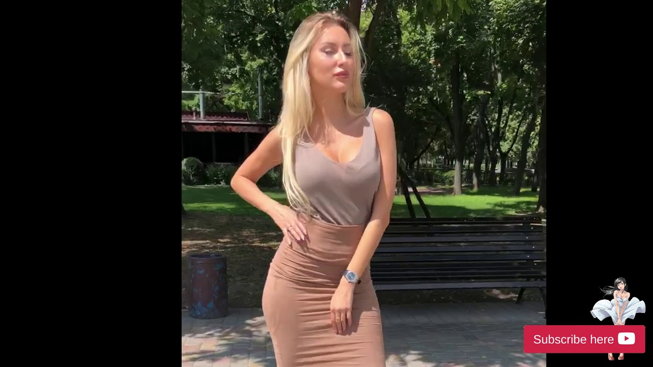 hot ukrainian blond girl on 15 cm sexy high heels
