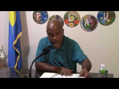 PIO of PPUC Johnny Kintaro discuss updates on Sewer Systems of Koror, Palau - (8-2-16)