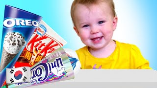 다섯 아이 아이스크림 카트 장난감 가게놀이 Five K…