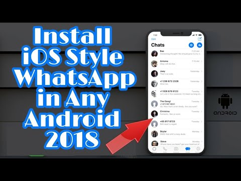 How To Get iOS Style WhatsApp In Any Android 2018 | No Root | Lattest Trick