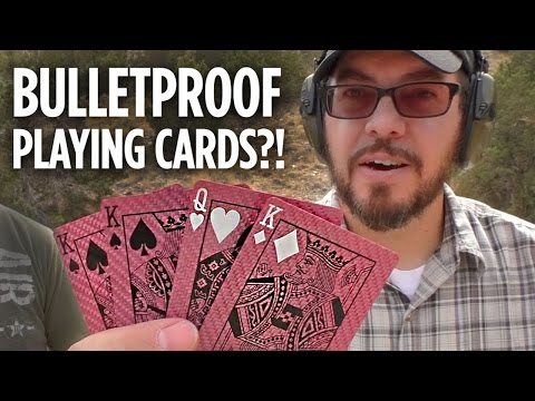 Bulletproof Playing Cards??!!