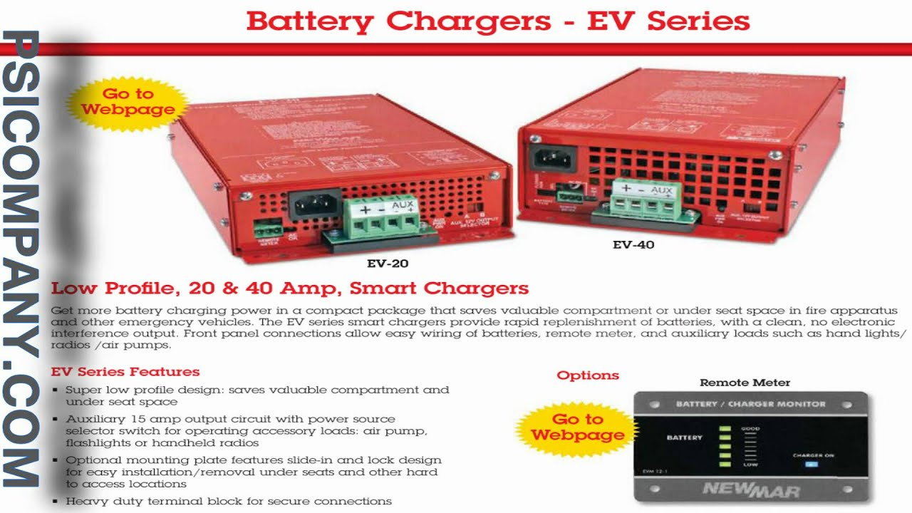 NewMar Battery Chargers All Charged up